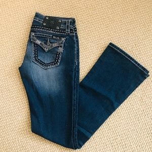 LIGHTLY WORN Miss Me Signature Bootcut Jeans